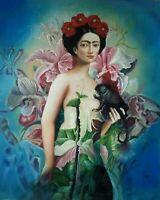 FRIDA Portrait Öl auf Leinwand Gemälde Gr. 50x60 cm Naturleinwand