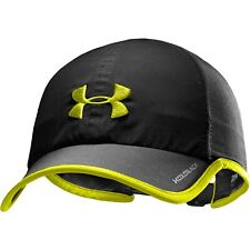 NEW Under Armour Mens Shadow ColdBlack Running Cap-Black/Yellow OSFA