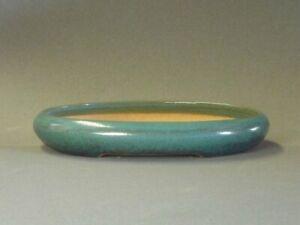 TOKONAME Bonsai Pot Handmade Reihou Oval Green TOKONAME 222×160×34mm KSC451