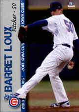 2013 Iowa Cubs Brandt #18 Barret Loux Houston Texas TX Baseball Card