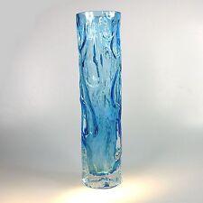 Klassiker große  Vase 70er Jahre Design ca. 25 x 6 cm blau