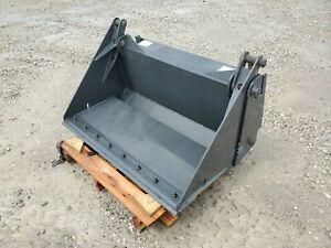 """NEW CID 48"""" Skid Steer 4-in-1 Combination Bucket Attachment w/ Cutting Edge"""