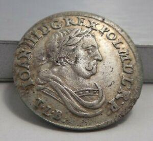 1682 TLB Poland Silver 6 Groschen Johan III Sobieski KM-128 High Grade