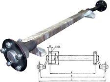 HGW 750 kg. Achse ungebremst MB8 von Schlegl - AM: 1200 mm - AS: 5*112