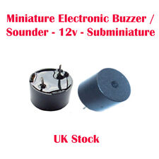 Miniature Electronic Buzzer / Sounder - 12v - Subminiature