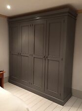 Painted Edwardian Full Hanging 4 Door Wardrobe