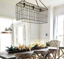 Large Metal Basket Pendant Light Fixture Industrial Rustic Metal Farmhouse Decor