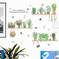 Flower Plant Bonsai Butterfly Removable Wall Sticker DIY Decal Decor