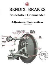 1927 Studebaker Commander Brake Adjustment and Trouble Finder