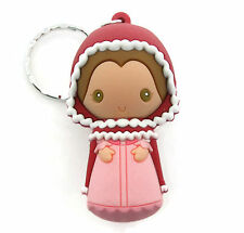 Disney BEAUTY AND THE BEAST 3D Figural Keyring Series WINTER BELLE KEYCHAIN