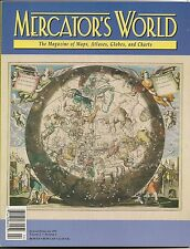 1997 Mercator'S World Cellarius Celestial Map Magazine Japan Frisland Wind Heads