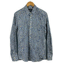 Antony Morato Mens Button Up Floral Shirt Size Medium Long Sleeve Party Shirt