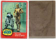 1977 Topps Star Wars #118 R2-D2 and C-3PO Original Trading Card AUTHENTIC