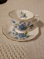 Vintage Royal Albert Cup & Saucer Forget Me Not ,England Bone China