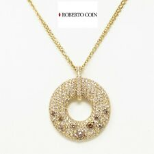 """NYJEWEL Roberto Coin 18k Gold 7ct Fancy Colored Diamond Pendant Necklace 15.5"""""""