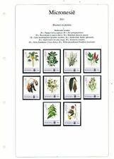 TIMBRE STAMP ZEGEL MICRONESIE 2 BELLES SERIES PLANTES ET FLEURS FLOWERS