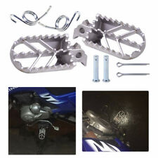 Silver Motorcycle Rider Foot Peg Kit Footrest For Suzuki Honda Yamaha Kawasaki