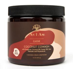As I Am Coconut Cowash Cleansing Creme Conditioner 16 oz