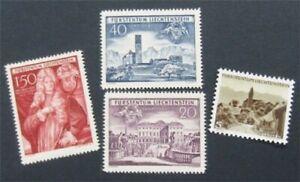 nystamps Liechtenstein Stamp # 239-242 Mint OG NH Paid VF & XF       S17x722