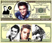 Elvis Presley King Rock Roll Music 1 Million Dollar Bill Novelty Note