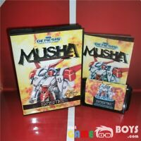 MUSHA Game Cartridge for SEGA Genesis Complete Boxed Manual USA Version NTSC-U/C