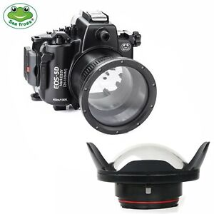 SeaFrogs 130ft Underwater Camera Housing for Canon 5D Mark III IV w/ Dome Port