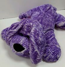 "Peek A Boo Toys purple Dog puppy Stuffed Animal Plush Pillow 19"" toy Collectible"