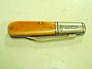 Vintage 1930'S Remington USA  Bone Folding Barlow Jack Knife Pocket Knife