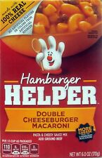 Betty Crocker Hamburger Helper Double Cheeseburger Macaroni Pack of 3 6 oz Box