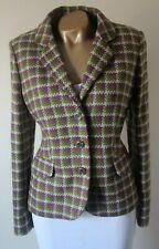 Blazer Jacket Dickens & Jones 14 100% Moon Wool Tweed Check Tailored Perfect