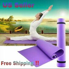 6mm Purple Yoga Mat With Carrying Strap Eco Friendly Pilates Gym Non-Slip Equio