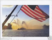 FDNY MARINE FIRE BOAT with AMERICAN FLAG PHOTO Free Ship!