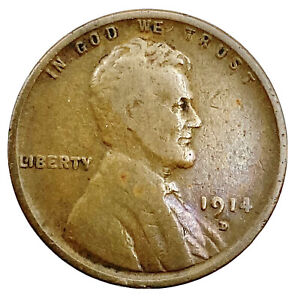 1914-D Lincoln Wheat Cent Key Date