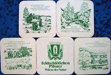 Bierdeckel Serie - Feldschlößchen  Braunschweig Heimatliche Länderreihen 1981/83