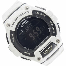 Casio Tough SOLAR 120-Lap Memory Stopwatch Sports Watch WS-220C-7BV Brand New