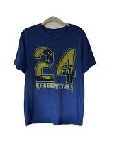 Majestic Threads MLB Seattle Mariners Ken Griffey Jr. Blue T Shirt - Size Large