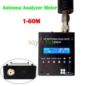 MR300 Digital Antenna Analyzer Bluetooth Shortwave Meter Tester 60M Ham Radio CA