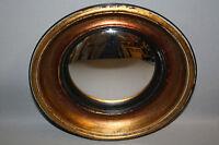 """Glace / Miroir dit """"oeil de sorcière"""" style Napoléon III noir cuivréDiam 22,5 cm"""