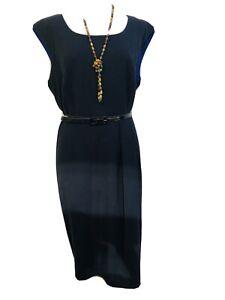 Betty Jackson Black Designer@ Debenhams  Pinstripe Pinafore Dress Size 16 BNWT