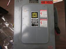Square D Non Fusible Safety Switch HU461 30A 600V 4P Used