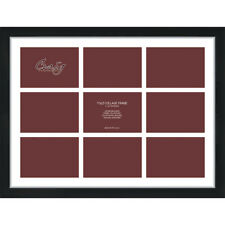 Craig Frames 17x23 Black Collage Frame, White Mat with Openings For 9 5x7 Images