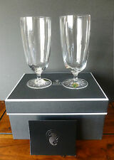 WATERFORD CRYSTAL CLEAR LIGHT TALL BEVERAGE GLASSES ONE PAIR BNMIB