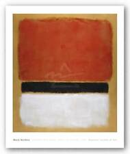 ABSTRACT ART PRINT Untitled Red Black White on Yellow 1955 Mark Rothko