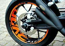 Aufkleber Felgenaufkleber Supermoto Felgen KTM Duke 690 IV 4 R 950 990 Sticker