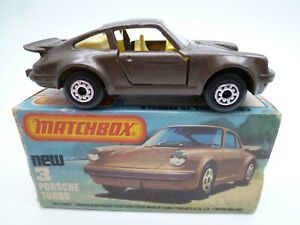 VINTAGE MATCHBOX SUPERFAST No.3e PORSCHE 911 TURBO IN ORIGINAL BOX ISSUED 1978
