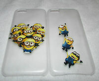 Minion Clear Case For iPhone 4 4S 5 5S 5C 6 6S Samsung S3 S4 S5 S6 Minions Cover