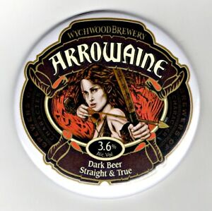 "Wychwood Arrowaine Jumbo Fridge Magnet Dark Beer Mat Bar 3"" 75mm blade Sub pub"