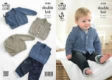 King Cole 4154 Knitting Pattern Waistcoat, Cardigan, Slipover and Sweater
