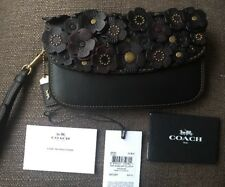 New COACH 1941 Clutch In Glovetanned Leather With Tea Rose BRASS/BLACK