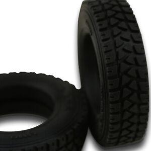 2* Rubber Narrow Tire Skin Rear Wheel Tire for Bruder 60002 1/16 RC Truck DIY